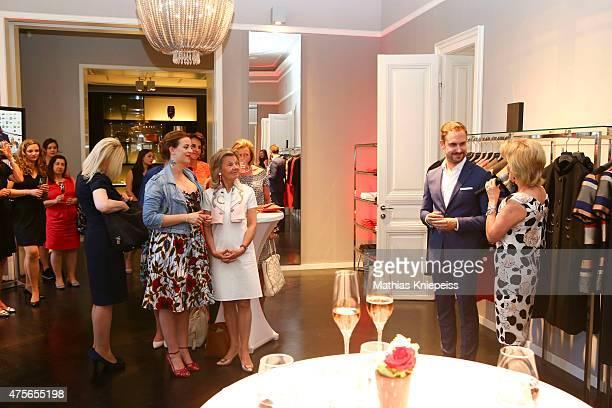 Lena Hoschek Ronny Borck and Elisabeth Guertler attend the Escada 'Fete Imperiale' 2015 on June 2 2015 in Vienna Austria
