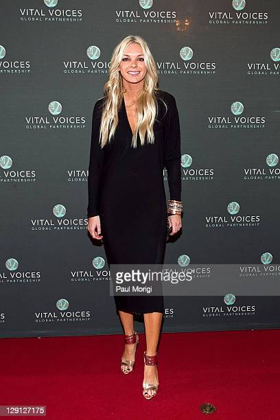 Lena Jensen arrives at the 2011 Vital Voices Leadership Awards reception at The John F Kennedy Center for Performing Arts on April 12 2011 in...