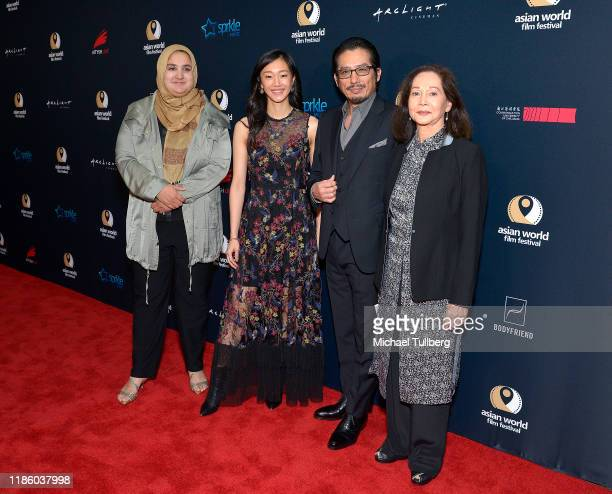 Lena Khan Tiffany Chu Hiroyuki Sanada and Nancy Kwan attends the opening night premiere of Just Mercy at the 5th annual Asian World Film Festival at...