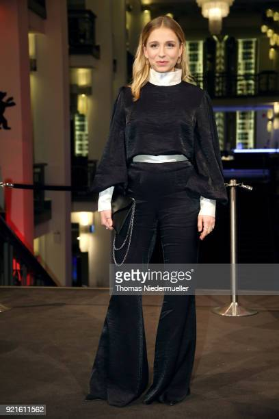 Lena Klenke attends the 'The Silent Revolution' premiere during the 68th Berlinale International Film Festival Berlin at Friedrichstadtpalast on...