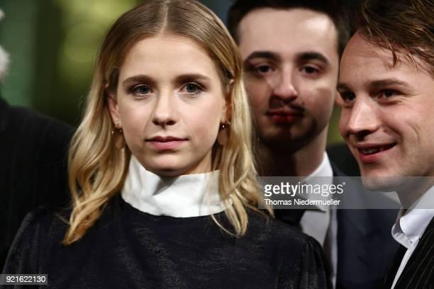 Lena Klenke Isaiah Michalski and Leonard Scheicher attend the 'The Silent Revolution' premiere during the 68th Berlinale International Film Festival...