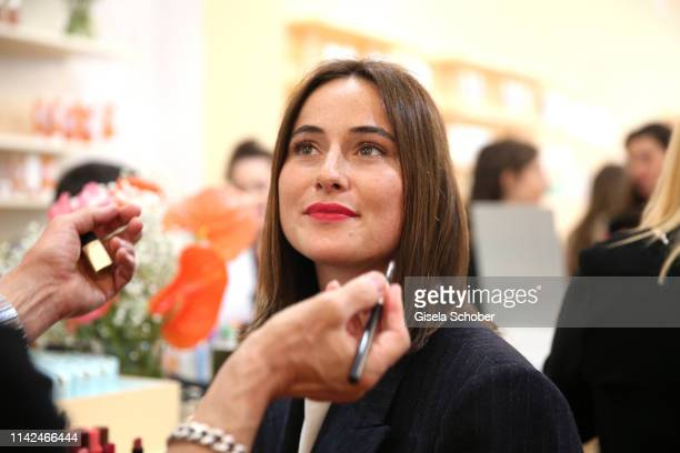Lena Lademann during the Zalando Beauty Pop-Up Event on May 9, 2019 in Munich, Germany.