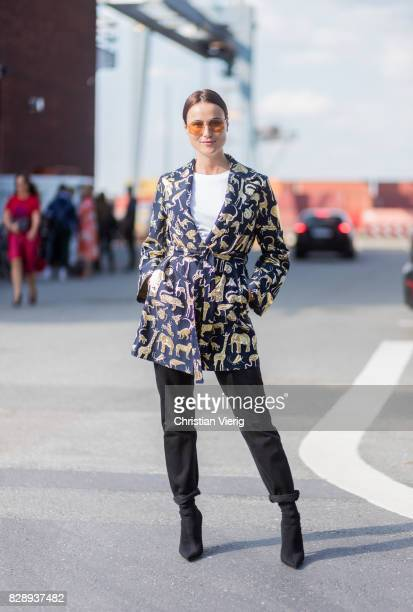 Lena Lademann outside Stine Goya on August 09 2017 in Copenhagen Denmark