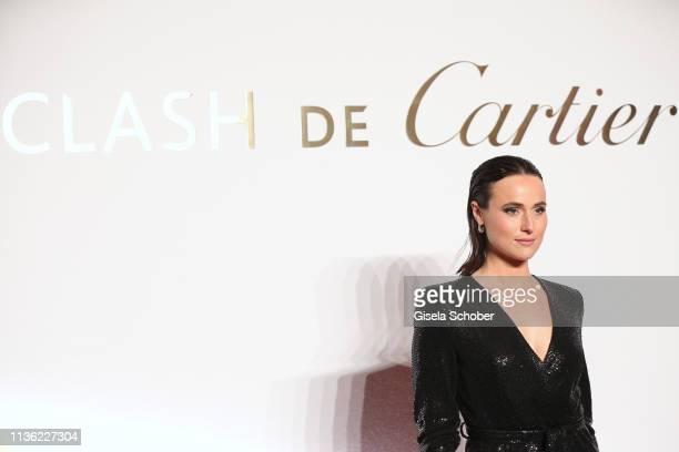 Lena Lademann wearing jewelry by Clash de Cartier during the Clash de Cartier event at Conciergerie on April 10 2019 in Paris France