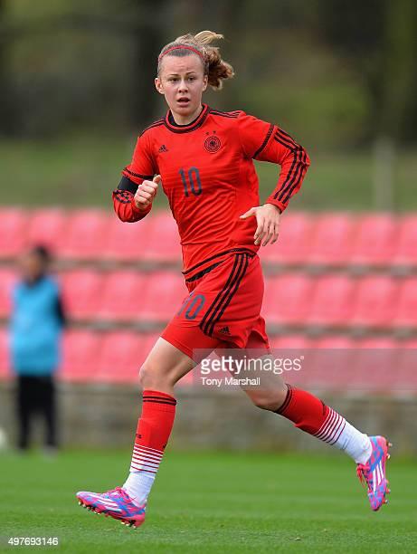 Lena Lattwien of Germany during Women's U16s International Friendly match between England U16s Women and Germany U16s Women at St Georges Park on...
