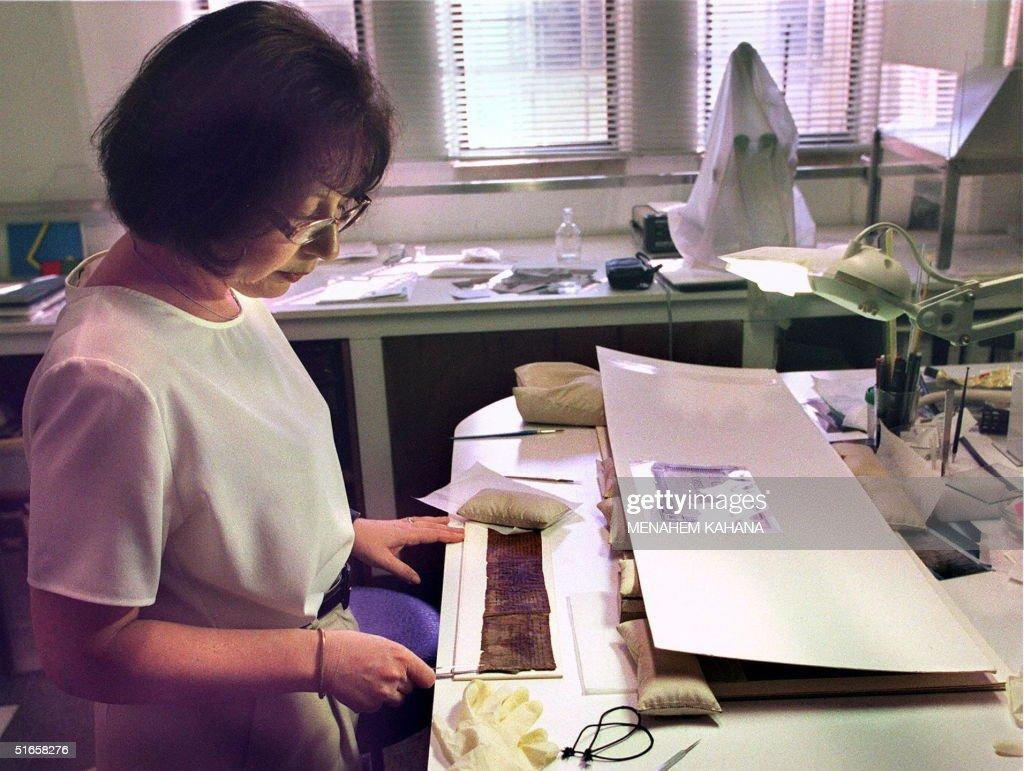 Lena Liebman, an Israeli Department of Antiquities : News Photo