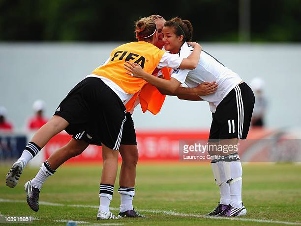 Lena Lotzen of Germany celebrates scoring the first goal during the FIFA U17 Women's World Cup match between Germany and South Africa at the Dwight...