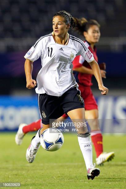 Lena Lotzen of Germany controls the ball during the FIFA U20 Women's World Cup Japan 2012 Group D match between Germany and China at Hiroshima Big...