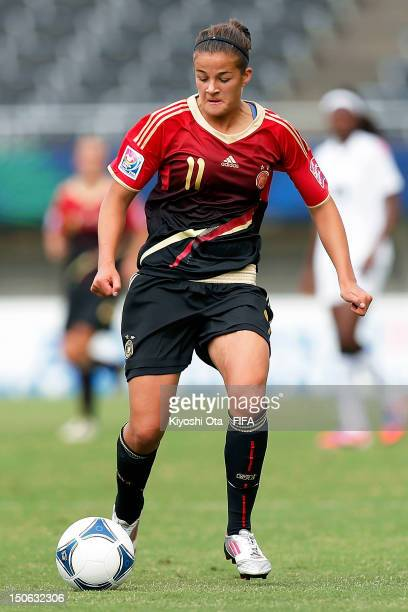 Lena Lotzen of Germany controls the ball during the FIFA U20 Women's World Cup Japan 2012 Group D match between Ghana and Germany at Hiroshima Big...