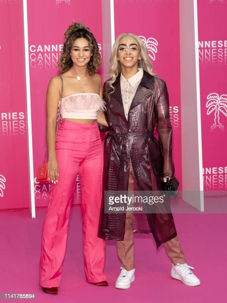 Lena Mahfouf and Bilal Hassani attends the 2nd Canneseries International Series Festival Closing Ceremony on April 10 2019 in Cannes France