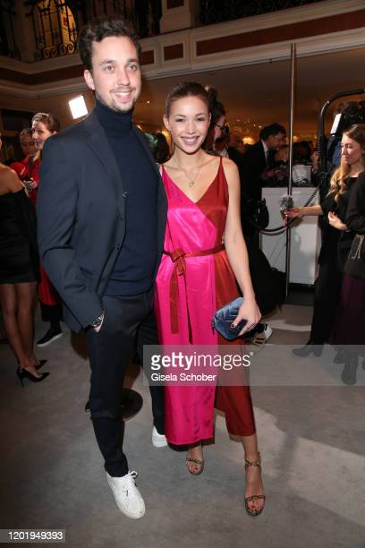 Lena Meckel and her boyfriend Michael Groeger during the Best Brands Award 2020 at Hotel Bayerischer Hof on February 19 2020 in Munich Germany