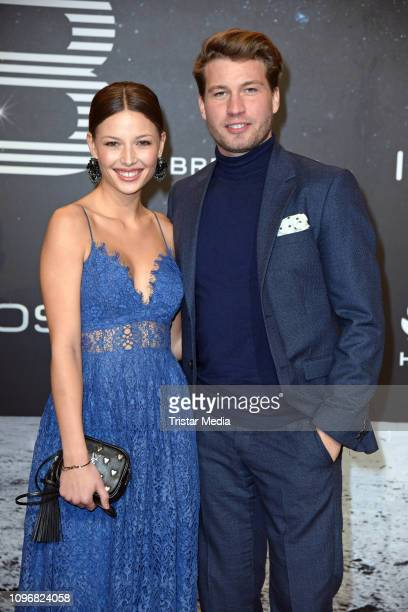 Lena Meckel and Raul Richter attend the PLACE TO B Berlinale party during 69th Berlinale International Film Festival at Borchardt Restaurant on...
