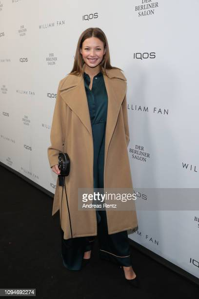 Lena Meckel attends the William Fan Defile during 'Der Berliner Salon' Autumn/Winter 2019 at Knutschfleck on January 15 2019 in Berlin Germany