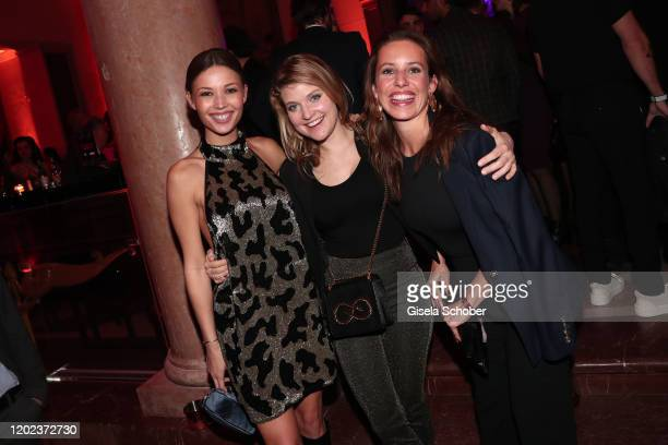 Lena Meckel Lara Mandoki and Sarah Beck daughter of Rufus Beck during the BUNTE BMW Festival Night at Italienische Botschaft on February 21 2020 in...