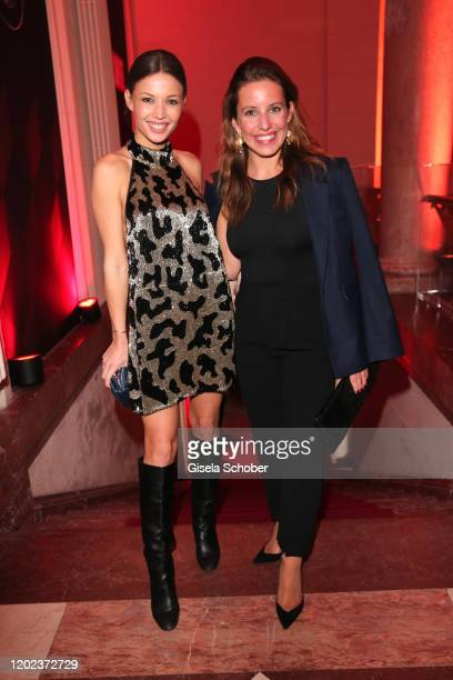 Lena Meckel Sarah Beck daughter of Rufus Beck during the BUNTE BMW Festival Night at Italienische Botschaft on February 21 2020 in Berlin Germany