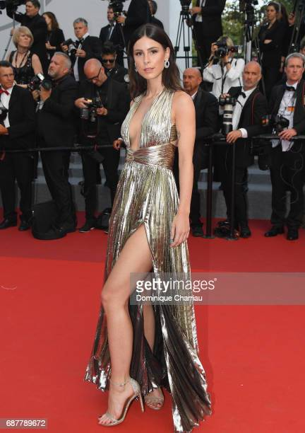 Lena Meyer Landrut attends the The Beguiled screening during the 70th annual Cannes Film Festival at Palais des Festivals on May 24 2017 in Cannes...