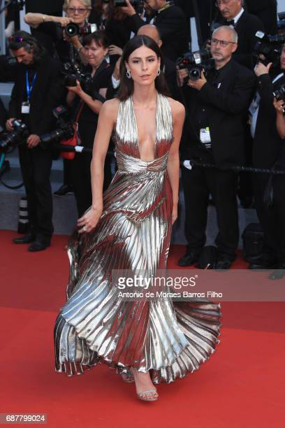 Lena Meyer Landrut attends the 'The Beguiled' screening during the 70th annual Cannes Film Festival at Palais des Festivals on May 24 2017 in Cannes...
