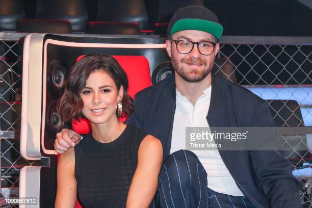 Lena MeyerLandrut and Mark Forster during the photo call for the show The Voice Kids on January 28 2019 in Berlin El Salvador