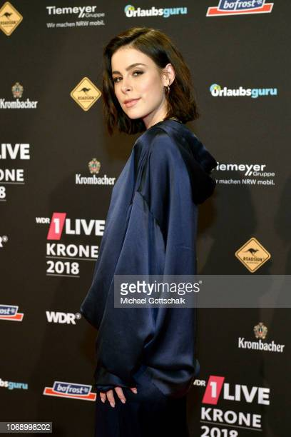 Lena MeyerLandrut attends the 1Live Krone radio award at Jahrhunderthalle on December 6 2018 in Bochum Germany