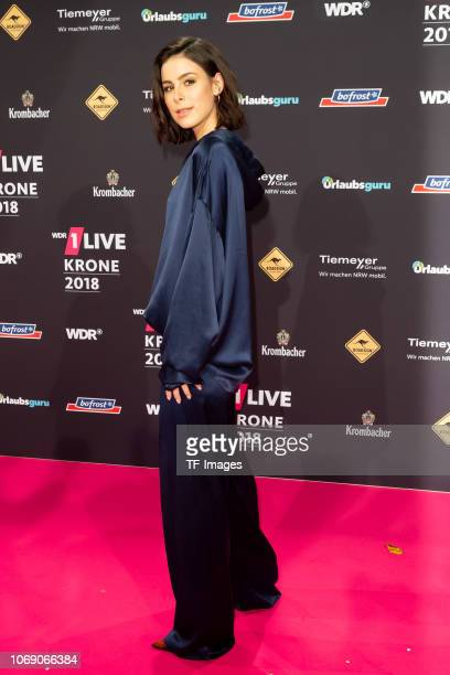 Lena MeyerLandrut attends the 1Live Krone radio award at Jahrhunderthalle on December 6 2018 in Bochum Germany
