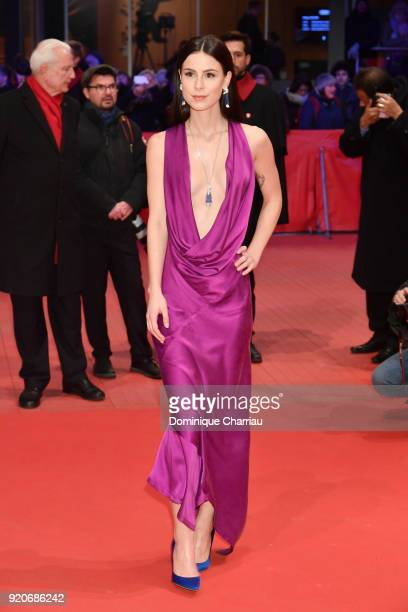 Lena MeyerLandrut attends the '3 Days in Quiberon' premiere during the 68th Berlinale International Film Festival Berlin at Berlinale Palast on...