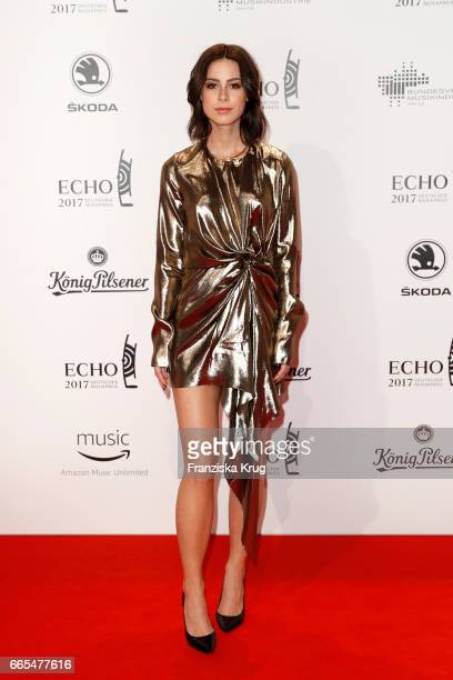 Lena MeyerLandrut attends the Echo award red carpet on April 6 2017 in Berlin Germany