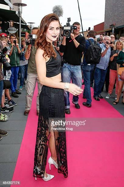 Lena MeyerLandrut attends the Late Night Shopping Designer Outlet Soltau on August 28 2014 in Soltau Germany