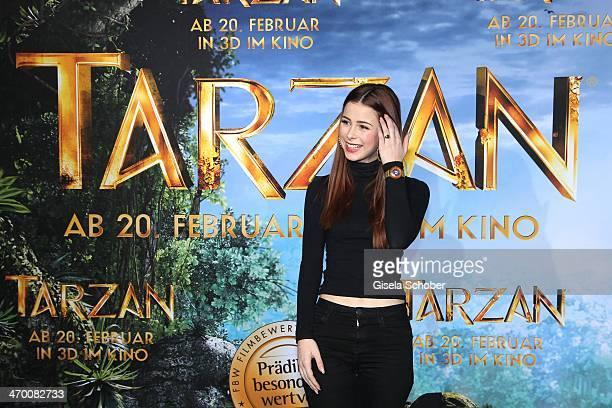 Lena MeyerLandrut attends the 'Tarzan' photocall at Hotel Bayerischer Hof on February 18 2014 in Munich Germany