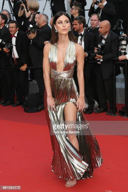 Lena MeyerLandrut attends the The Beguiled screening during the 70th annual Cannes Film Festival at Palais des Festivals on May 24 2017 in Cannes...