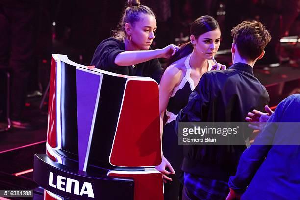Lena MeyerLandrut attends the 'The Voice Kids' Semi Finals on March 11 2016 in Berlin Germany