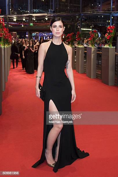 Lena MeyerLandrut attends the 'Things to Come' premiere during the 66th Berlinale International Film Festival Berlin at Berlinale Palace on February...