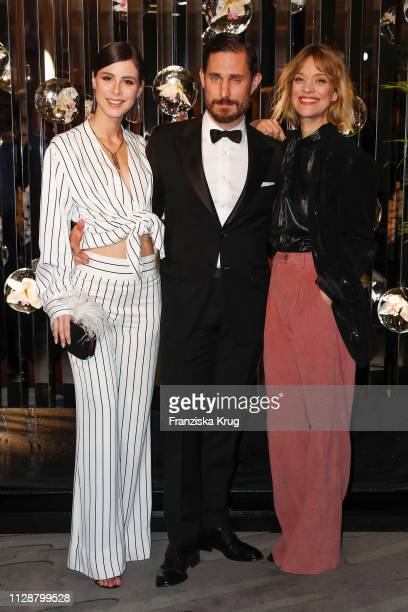 Lena MeyerLandrut Clemens Schick and Heike Makatsch during the Ritz Carlton Berlin ReOpening Party at Ritz Carlton on March 5 2019 in Berlin Germany