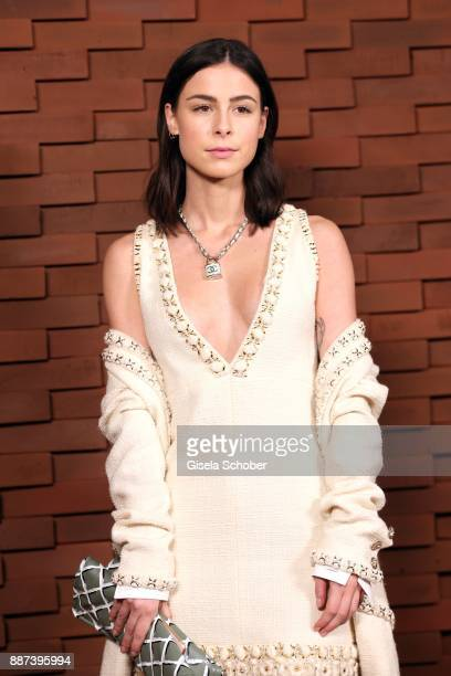 Lena MeyerLandrut during the Chanel 'Trombinoscope' Collection des Metiers d'Art 2017/18 photo call at Elbphilharmonie on December 6 2017 in Hamburg...