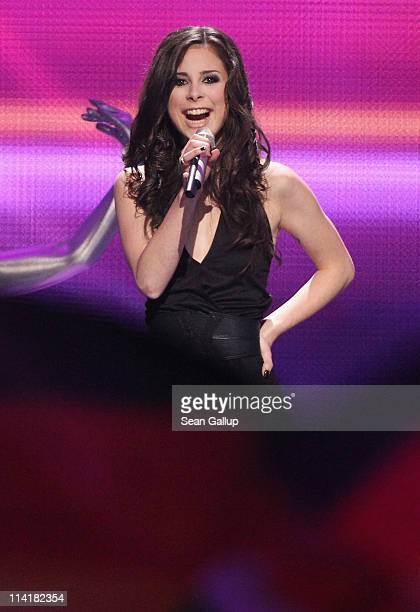 Lena Meyer-Landrut of Germany performs in the grand finale of the Eurovision Song Contest 2011 on May 14, 2011 in Dusseldorf, Germany.