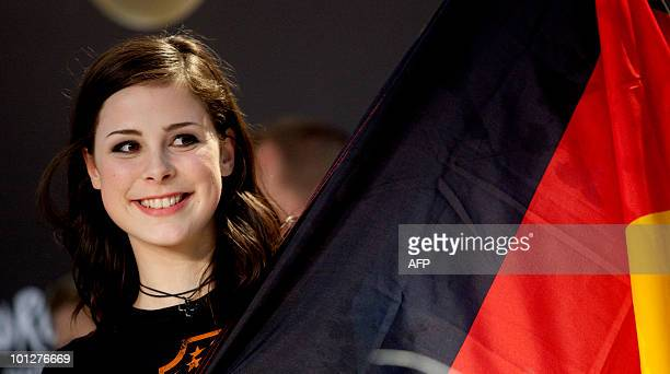 Lena MeyerLandrut of Germany smiles after she won the final of the Eurovision Song Contest at the Telenor arena in Baerum just outside Oslo on May 29...