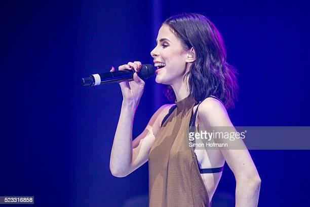 Lena MeyerLandrut performs during the Radio Regenbogen Award 2016 at Europapark on April 22 2016 in Rust Germany