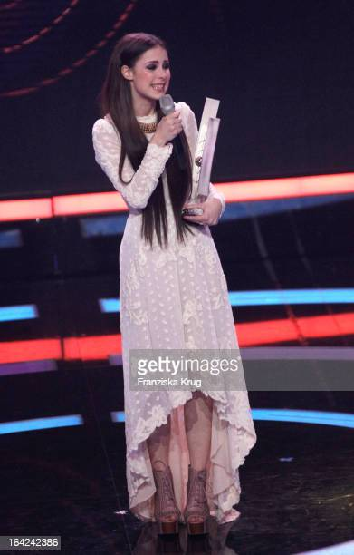 Lena MeyerLandrut seen onstage during the Echo Award 2013 at Palais am Funkturm on March 21 2013 in Berlin Germany Lena received the award as best...