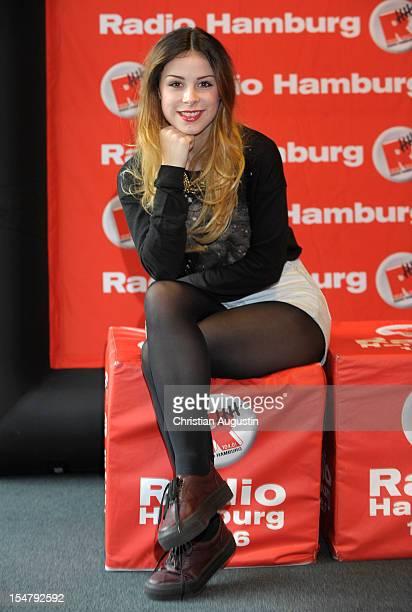 Lena MeyerLandrut visits Radio Hamburg to promote her new single 'Stardust'on October 26 2012 in Hamburg Germany