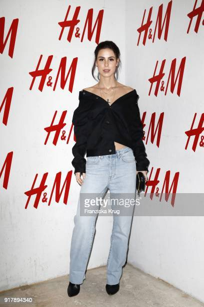 Lena MeyerLandrut wearing HM during the Inter/VIEW X HM Party on February 13 2018 in Berlin Germany