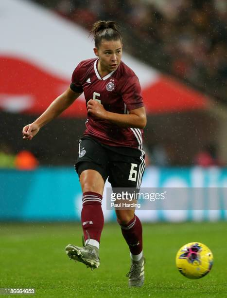 Lena Oberdorf of Germany Women during the International Friendly between England Women and Germany Women at Wembley Stadium on November 09 2019 in...