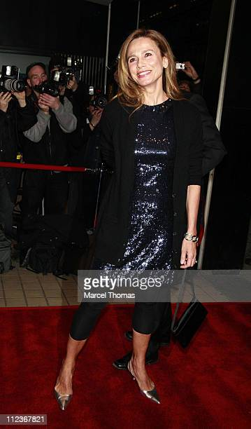Lena Olin during Miramax Films Presents The New York Premiere Of The Hoax Outside Arrivals at Cinema 13 in New York City New York United States
