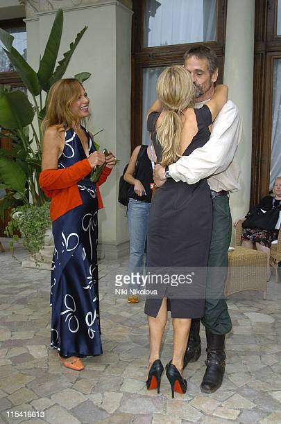 Lena Olin Sienna Miller and Jeremy Irons during 2005 Venice Film Festival Celebrity Sightings September 3 2005 at Hotel De Bains in Venice Italy