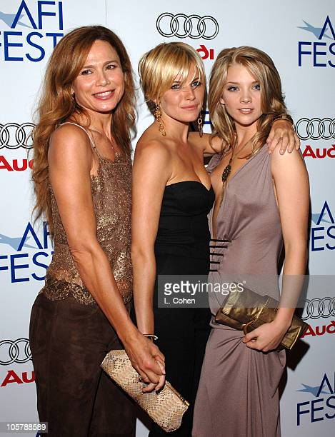 Lena Olin Sienna Miller and Natalie Dormer during AFI FEST 2005 Presented by Audi Closing Night Gala of Casanova Red Carpet in Los Angeles California...