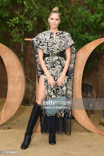 Lena Perminova attends the Christian Dior Womenswear Spring/Summer 2020 show as part of Paris Fashion Week on September 24, 2019 in Paris, France.