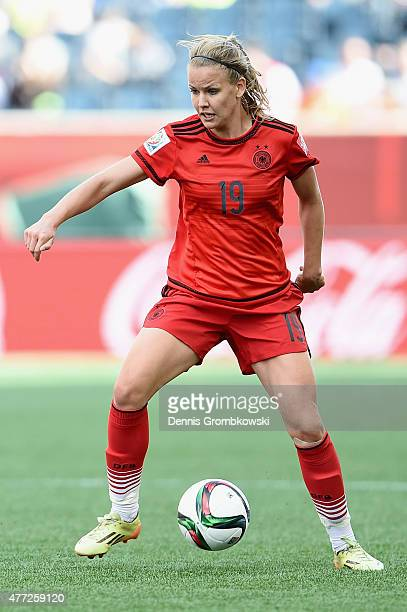 Lena Petermann of Germany controls the ball during the FIFA Women's World Cup Canada 2015 Group B match between Thailand and Germany at Winnipeg...