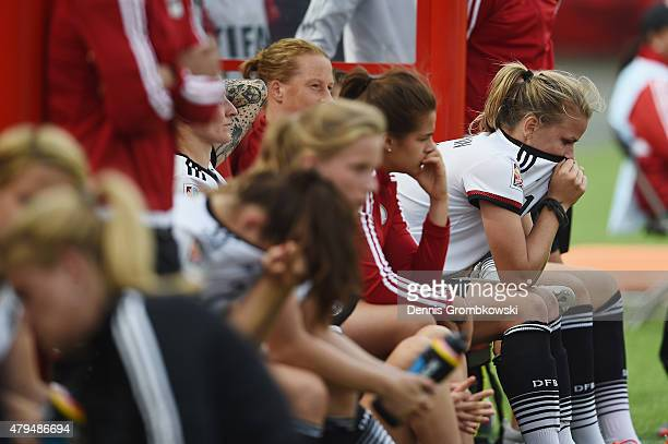 Lena Petermann of Germany looks dejected after the FIFA Women's World Cup Canada 2015 Third Place Playoff match between Germany and England at...