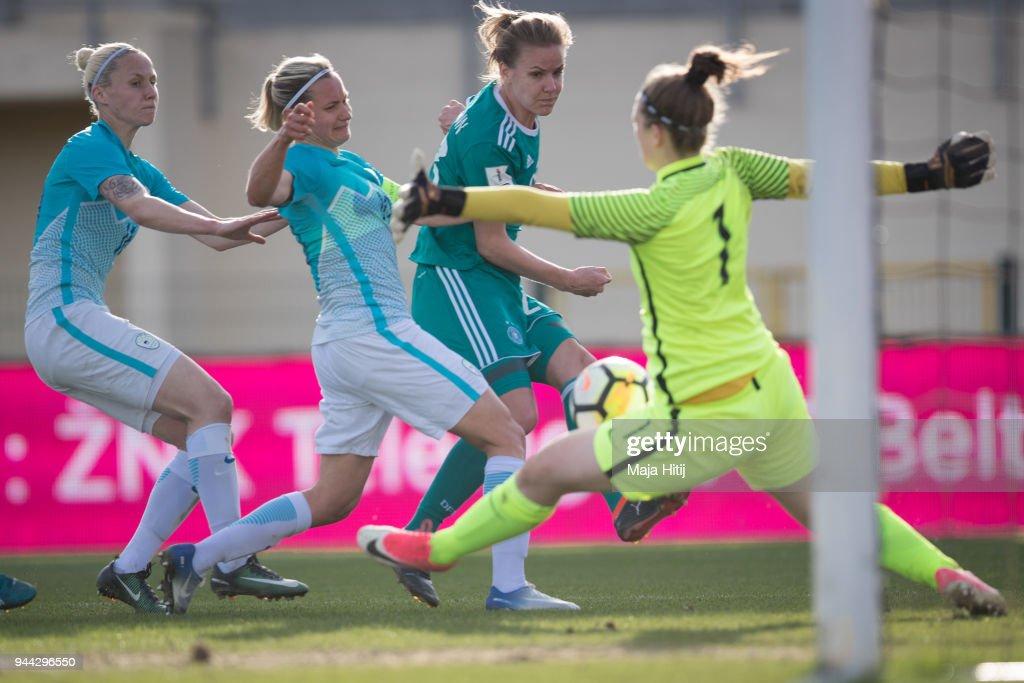 Slovenia Women's v Germany Women's - 2019 FIFA Women's World Championship Qualifier : News Photo