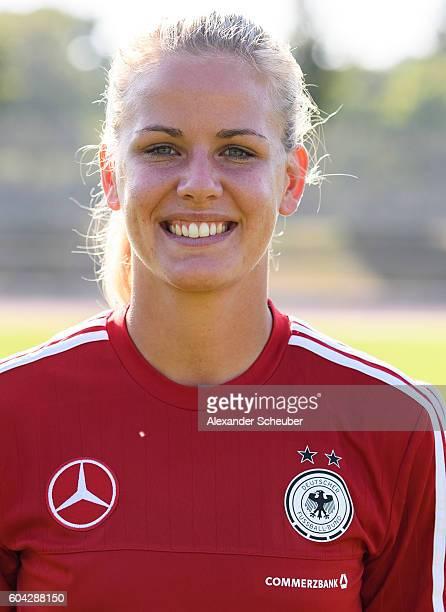 Lena Petermann poses during the Germany Women's team presentation on September 13 2016 in Frankfurt am Main Germany