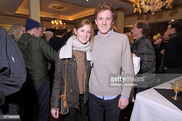Lena Redford and Dylan Redford attend the HBO Sundance Documentary Party at Wahso Asian Grill on January 22 2012 in Park City Utah