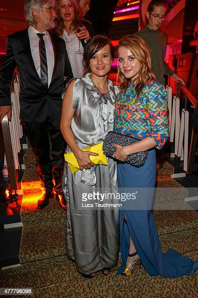 Lena Schoemann and Jella Haase attend the German Film Award 2015 Lola party at Palais am Funkturm on June 19, 2015 in Berlin, Germany.